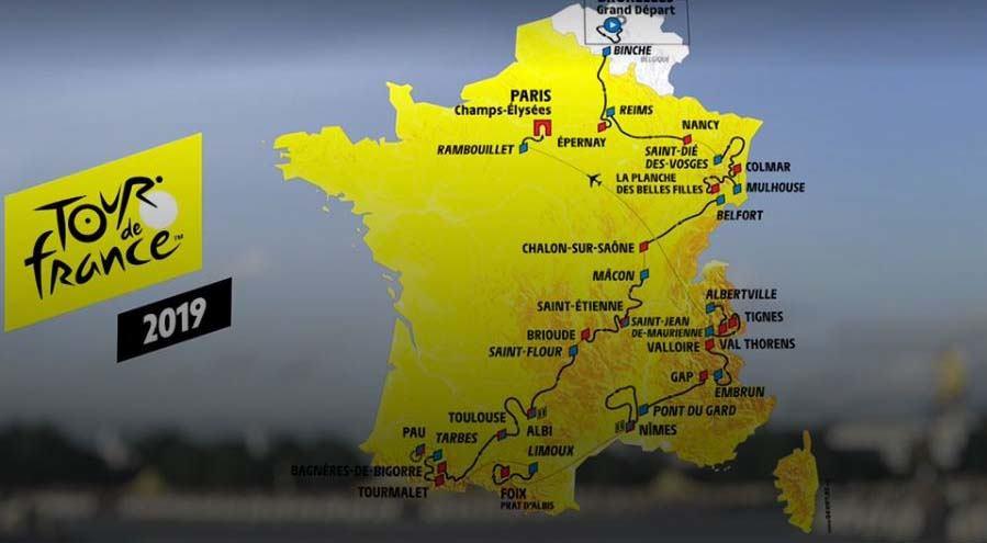 2019 Tour de France route highlights - Bikecation